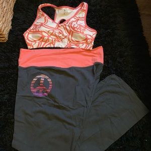 XL peach and gray active wear